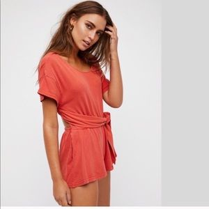 NWOT Free People Romper with Fun Cutout Back